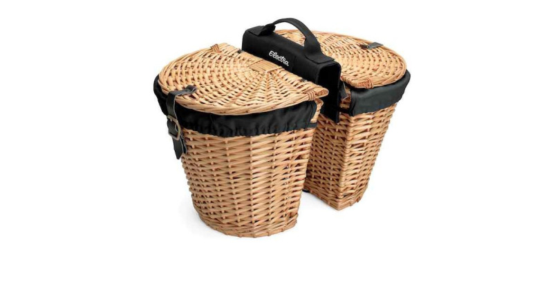 Electra Rear Rack Wicker Basket w/ Liners, Natural